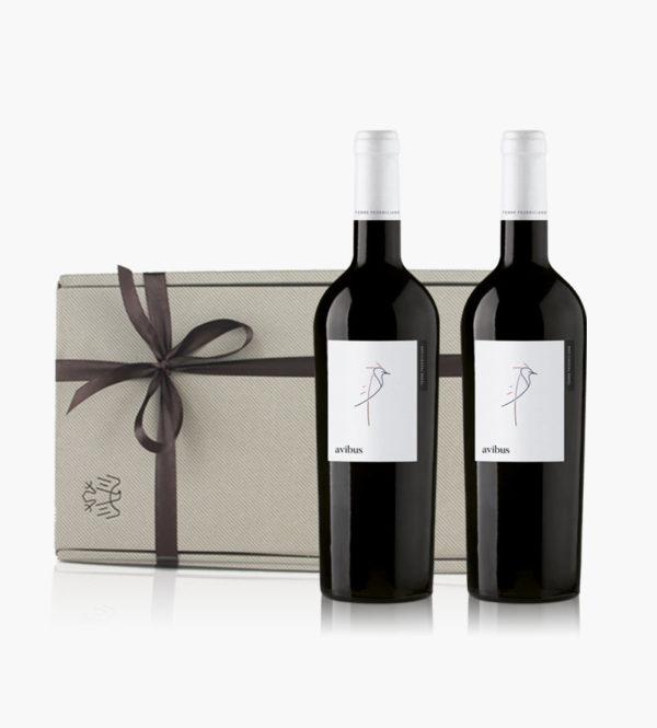 Immagine confezione regalo 2 bottiglie di Avibus Rosso