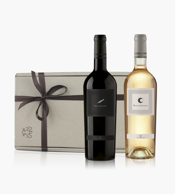 Immagine confezione regalo 2 bottiglie di Delle Vigne e Bianca Lancia